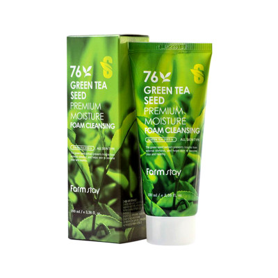 Очищающая пенка для умывания FarmStay Green Tea Seed Premium Moisture Foam Cleansing 100ml