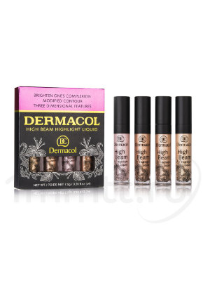 Набор жидких хайлайтеров Dermacol High Beam Highlight Liquid